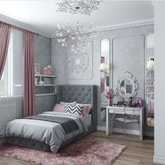 Teen Girl Bedrooms fabulous and dreamy living space - From modern to warm teen girl room decor. Saved at teen girl bedrooms themes shabby chic , image pin idea inspired on 20190206 Room Design, Home Bedroom, Bedroom Interior, Bedroom Diy, Home Decor, Girl Room, House Interior, Modern Bedroom, Girls Bedroom Curtains