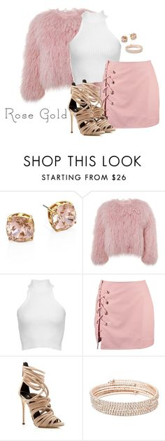 """So Pretty: Rose Gold Jewelry Contest"" by cmmxo ❤ liked on Polyvore featuring Tory Burch, Charlotte Simone, Cushnie Et Ochs, Boohoo, Giuseppe Zanotti and Anne Klein"