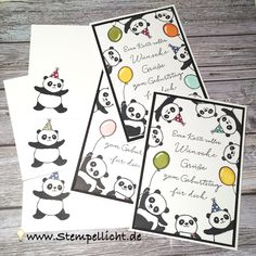 Party Pandas - SAB - Stampin´Up! - Glückwunschkarte