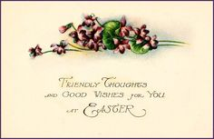 #Easter #vintage #ephemera #postcard #violets
