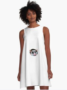 Funny rat A-Line Dress Funny Rats, Line, How To Make, How To Wear, Tank Tops, Tees, Casual, Fabric, T Shirt