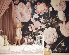 "1,745 Likes, 178 Comments - Christina Loewen (@christinaloewen) on Instagram: ""On the blog: all the details of Scarlett's new room! This wall paper from @anewalldecor is what my…"""