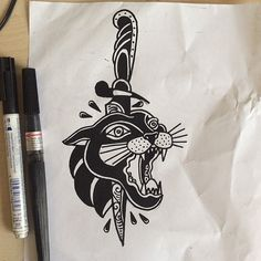 Here the sketch from @superhanz 's tattoo #traditionaltattoo…