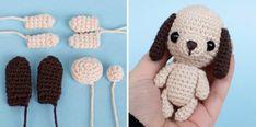 Dog amigurumi keychain charm crochet pattern Little dog amigurumi - keychain/bag charm crochet pattern by Amylie Freeman. Crochet Motifs, Free Crochet, Crochet Patterns, Dog Crochet, Amigurumi Doll, Amigurumi Patterns, Crochet Unique, Dog Keychain, Handmade Baby Gifts