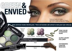 Avon~ Fresh Cut Greens eyeshadow quad and Khaki green eyeliner...make them green with envy. Shop here now... http://jgoertzen.avonrepresentative.com/