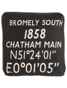 Aidan Gray Bromley South Pillow - I'd love to have this as a wonderful reminder of our 'home' station!