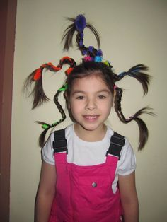 hidden pipecleaners - Crazy hair day