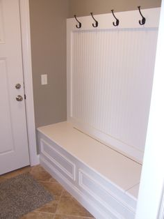 half wall mud room in family room Home Decor Inspiration, Mudroom, Home Organization, Home Projects, Home Remodeling, Family Room, House Plans, New Homes, House Design