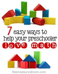 Want to help your child love math? Try these math activities for preschool!