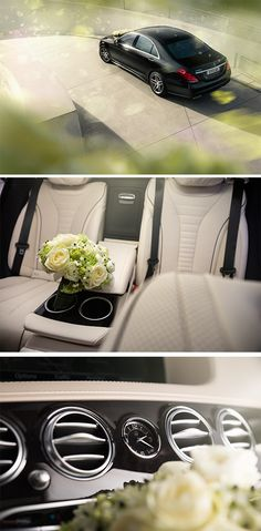 A Wedding Dream. The Mercedes-Benz S 500 e. Photos by Frederic Schlosser. [Mercedes-Benz S 500 e | combined fuel consumption 2.8 l/100km | combined CO2 emission 65 g/km | combined energy consumption 13.5 kWh/100km | http://mb4.me/efficiency_statement]