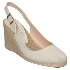 Pied a Terre Ladies Neutral IMPERIA - Simple Slingback Espadrille Wedge | Dune Shoes Online