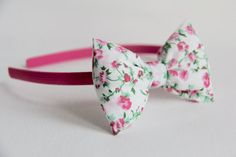 Pink Floral Alice Band, £6
