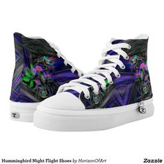 Hummingbird Night Flight Shoes Printed Shoes