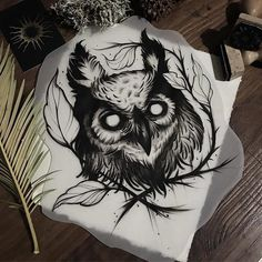 Ideas for drawing ideas creepy tattoos - Ideas for drawing ideas creepy tattoos - Owl Tattoo Drawings, Tattoo Sketches, Owl Tattoos, Owl Tattoo Design, Tattoo Designs, Body Art Tattoos, Sleeve Tattoos, Tattoo Grafik, Buho Tattoo