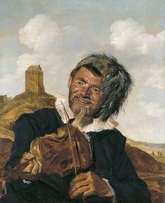 Frans Hals - Vioolspeler in duinlandschap