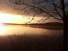 Thanksgiving #sunrise, Horn Pond, #Woburn, MA. via @davidbcrowley post.