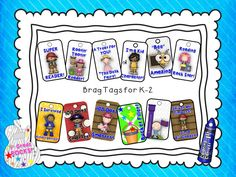 Brag Tags are a fun addition to your classroom and a great way to motivate your K-2 students!
