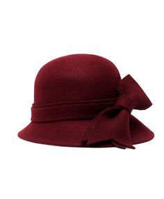 #fallfaves Brooks Brothers Heathered Bow Cloche in Burgundy. $78. @Jenny Brooks Brothers