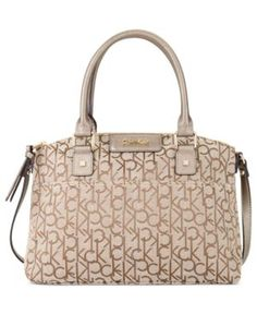 104 61 Calvin Klein Handbag Hudson Ck Jacquard Satchel Women S Handbags Accessories