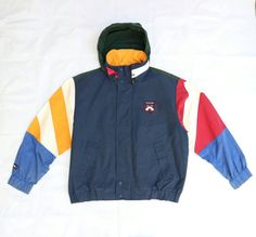 6cc2452cab3 Vintage Tommy Hilfiger Jacket spellout color by gentlemanclubstore Vintage  Tommy Hilfiger Jackets