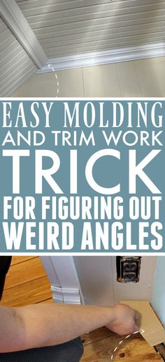 Easy Molding and Trim Work Trick: Figuring Out Tricky Angles for Trim | The Creek Line House Craft Projects For Kids, Cool Diy Projects, Project Ideas, Blogger Home, Trim Work, Moldings And Trim, Rustic Design, Home Improvement Projects, Organization Hacks