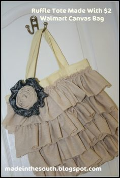 """Ruffled tote and a great """"how-to"""" on the blog!"""