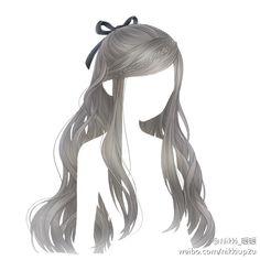 Anime hair long with braid