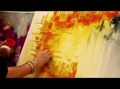 ▶ Como pintar un cuadro abstracto - Gabriela Mensaque - Artistica Monitor - YouTube
