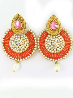 Buy Round Earrings Online Wholesale from India with Latest Designs 2016