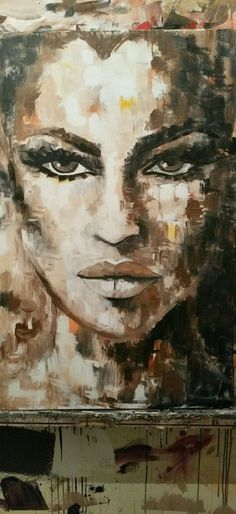 so beautiful a masterpiece. should hang in a gallery Acrylic Portrait Painting, Portrait Art, Painting & Drawing, Art Sketches, Art Drawings, Abstract Face Art, Human Art, People Art, Art And Illustration