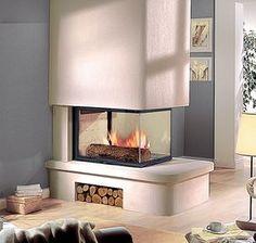 Cheminée Turbo Fonte Natacha en pierre Brétignac beige, équipée d'un foyer SD EPI 950N. Wood Burning Fires, Open Fires, House, Foyers, Fireplaces, Apartment Ideas, Home Decor, Fire Places, Fireplace Wall