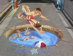 Jennifer Chaparro converts the streets into an open gallery with her hyper-realistic paintings. She also works on murals, customized products, and chalkboard arts using soft pastel chalks and washable tempera paint. It all started as a fu #streetart