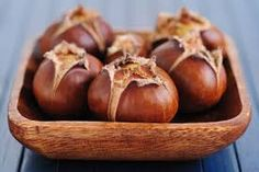 Cold weather food: roasted chestnut