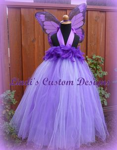 Purple Butterfly Tulle Tutu Dress Costume for Girls up to or a Chest for Parties, Costume, Halloween, Pageants Tulle Tutu, Tulle Dress, Tutu Dresses, Tutu Costumes, Halloween Costumes, Costume Ideas, Skye Costume, Purple Butterfly, Butterfly Birthday