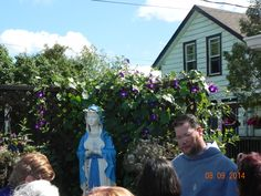 BVMary & Father Michael, at Greensides