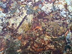 Mica Rock paper assorted colors and rust effects on wood