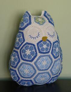 African Flower Owl crochet pattern by Jo's Crocheteria  #crochet #crochetpattern…