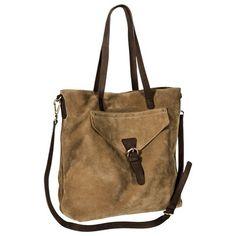 Merona® Genuine Leather Tote Handbag with Removable Strap - Tan