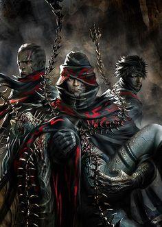 Assassin Order Members Carrying Dead Comrade
