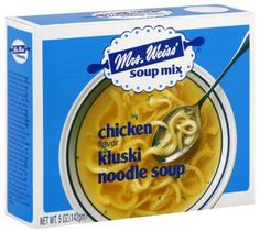 Mrs. Weiss' soup is a sick day must - it has the best noodles!
