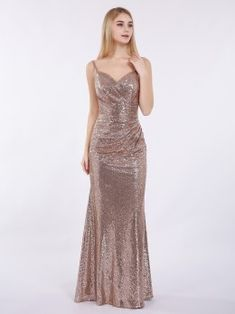Babaroni Cathy Spaghetti Strap Sequins Gown with Sweetheart Shrug For Dresses, Prom Dresses, Wedding Dresses, Sparkly Dresses, Formal Dresses, Dusty Blue Bridesmaid Dresses, Brides And Bridesmaids, Chiffon Dress Long, Tulle Dress