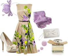 """""""Spring wedding guest outfit"""" by nickiellie on Polyvore"""