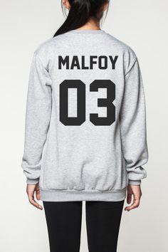 Harry Potter chemise femmes pull sweatshirt hommes chemise tshirt long manches pull manches longues tshirt Malefoy 03