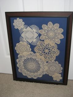 display those pretty but no longer used doilies. Got to make some of these!