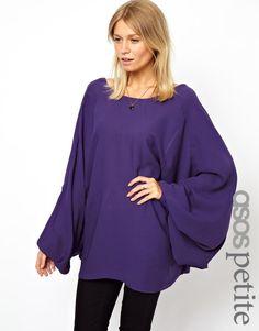 ASOS Petite | ASOS PETITE Oversize Blouse with Dramatic Kimono Sleeve at ASOS