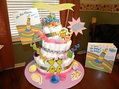 Dr. Suess diaper cake