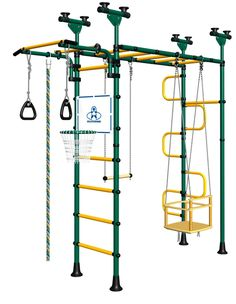 Gymnastics Equipment for Kids PEGAS DSK-4-X.06.G1 DSK-4-X.06.G1 ( PVC or Wood Stairs): Popsicle Home Gym For Kids @ Cozy Furniture