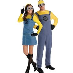Minion Couples Costumes, me and drews Halloween costumes lol Halloween Mono, Halloween City, Halloween 2014, Cute Halloween Costumes, Couple Halloween, Halloween Customs, Cheap Halloween, Halloween Fashion, Cute Couples Costumes