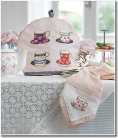 I love just about anything with tea cups and tea pots.