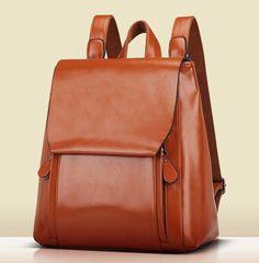 2017 Popular Image of Womens Leather Laptop Backpack Backpacks Eru